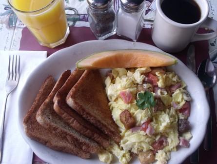 Scrambler for breakfast at Mama Leone's