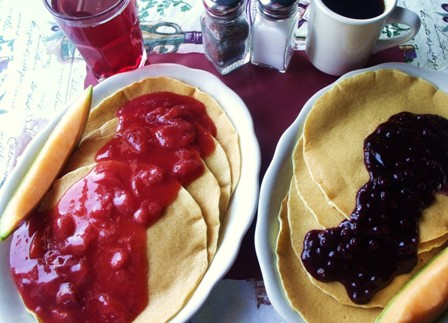 Danish style pancakes for breakfast at Mama Leone's
